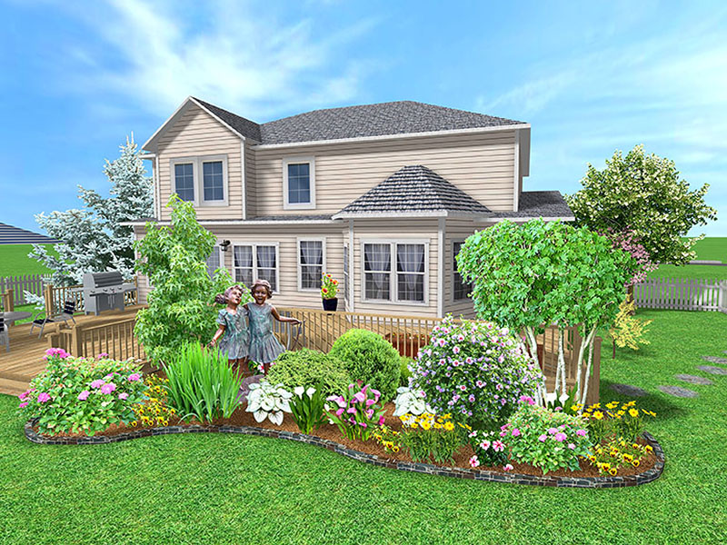 June 2011 landscape design for Simple house garden design