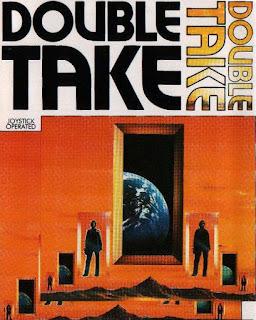 Portada del videojuego Double Take, 1987 (casete)