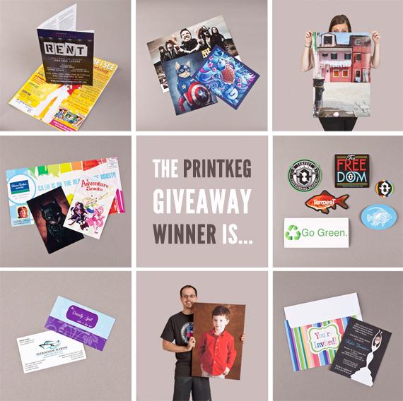 PrintKEG Giveaway WINNERS