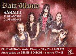 """RATA BLANCA EN EL """"CLUB ATENAS"""" - 22/08/2015"""