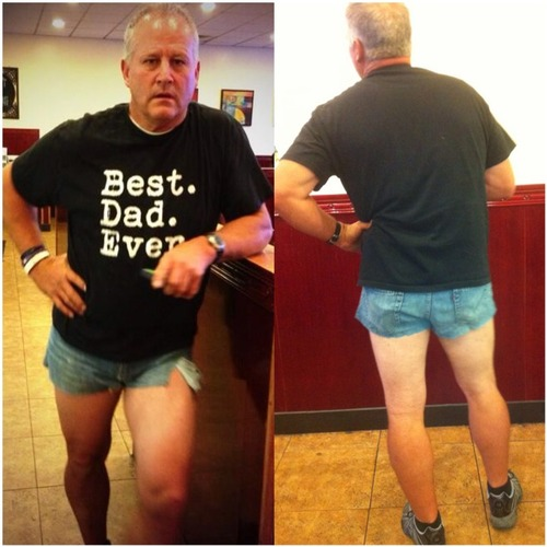 Dad wears Short Shorts to Teach Daughter a Lesson