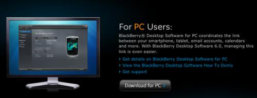 Download BlackBerry Desktop Manager v7