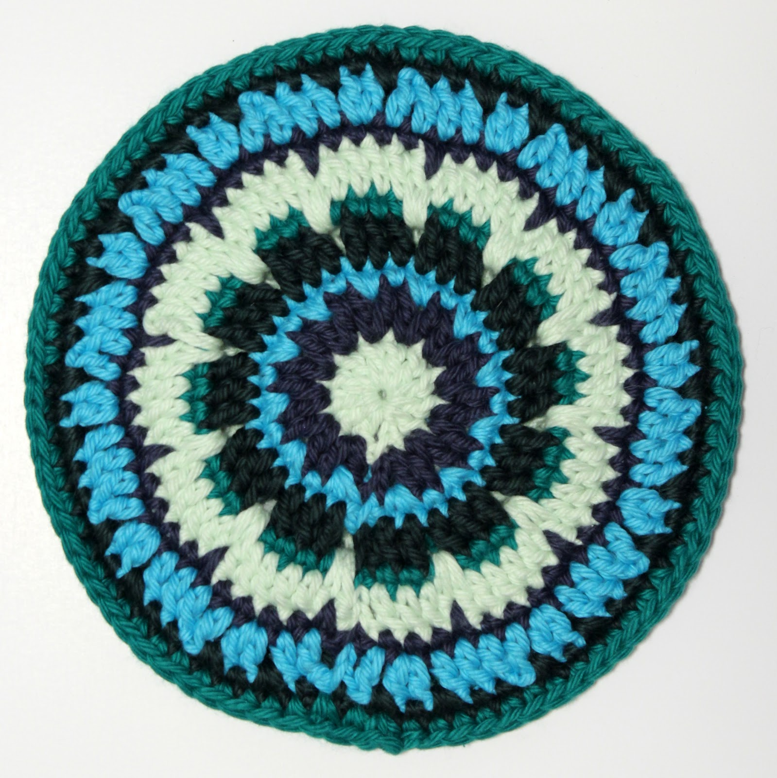 crocheted pot holder cotton