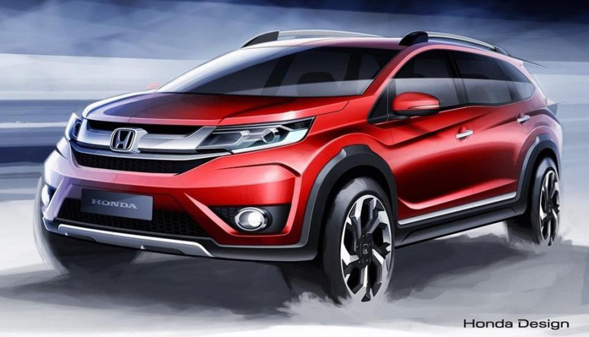 Honda Sketches Out New Br V A Seater Crossover For Asia