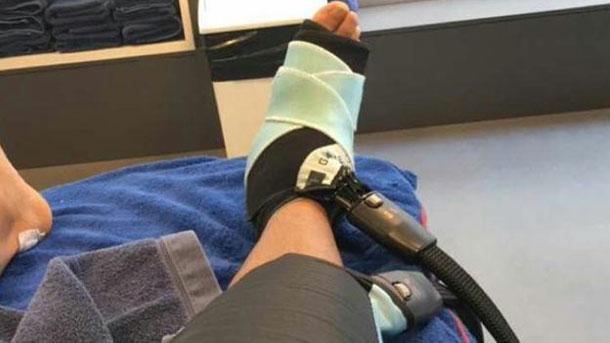 Neymar Jr se sometió a fisioterapia en la Ciutat Esportiva