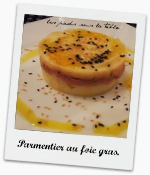 Parmentier au foie gras.