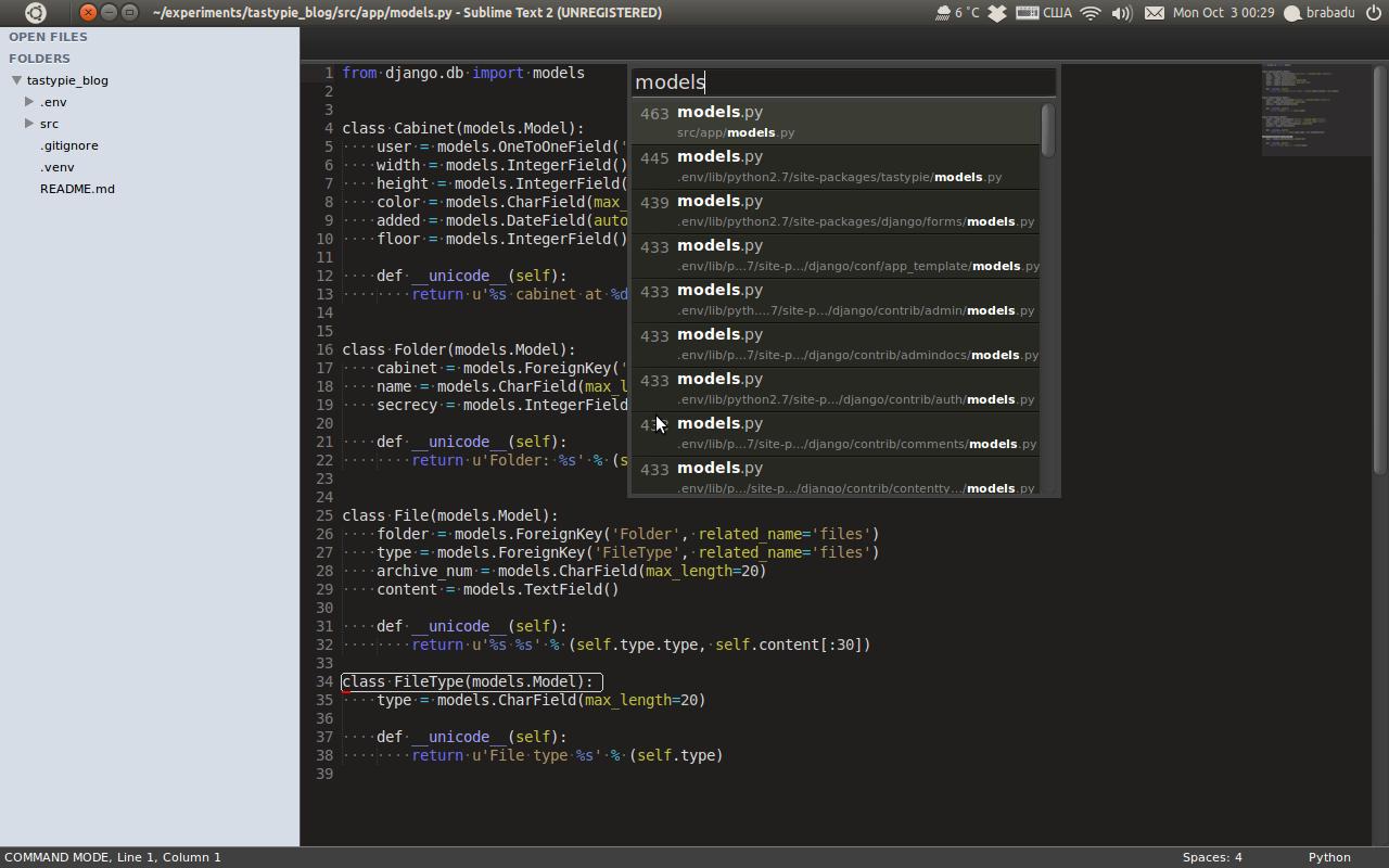 Sublime Text 2/3 for Django developer | Brabadu Technical Blog