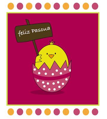 tarjeta de Pascua para imprimir
