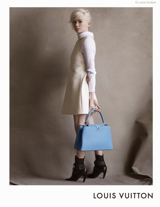 Louis Vuitton Capucines Handbag Campaign 2014 featuring Michelle Williams