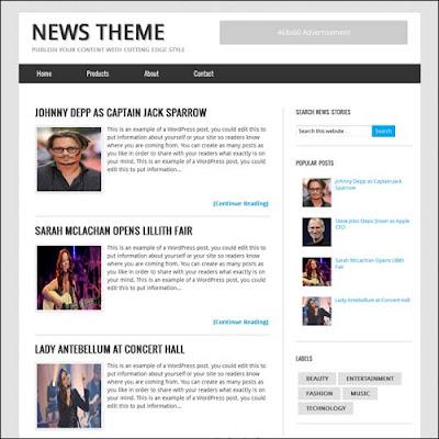 News Blogger Template