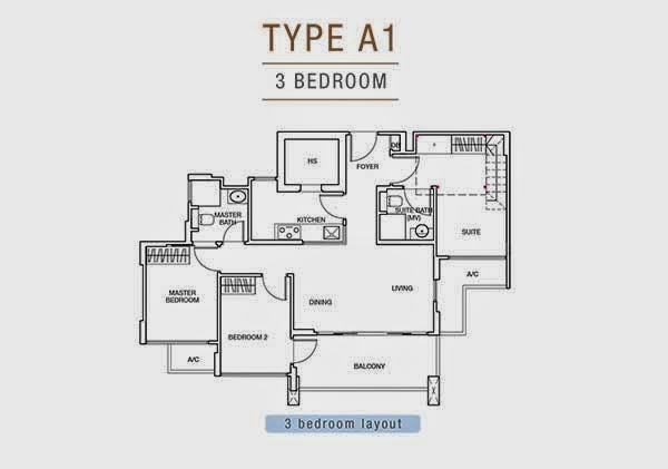 Sunnyvale Residences Floor Plans 3 Bedrooms