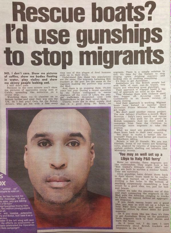 Katie Hopkins article in the Sun