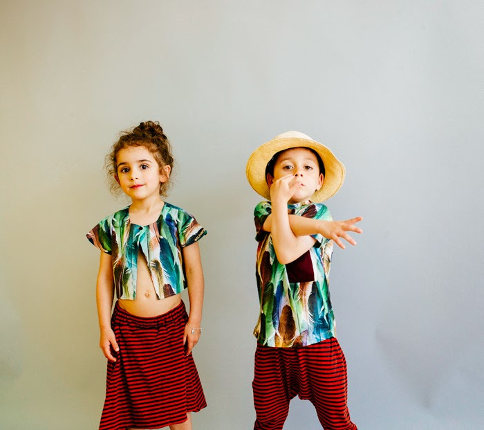 Wolf & Rita Spring-Summer 2015 kids fashion - Feathers and stripes