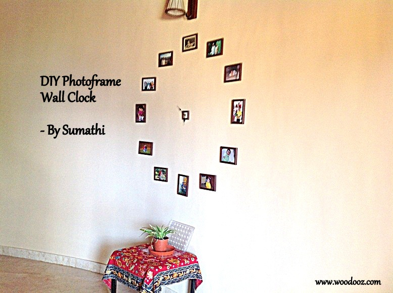 a photo frame wall clock personalization at its best