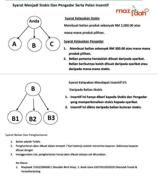 plan pemasaran mazidah marketing