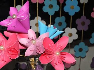 aniversario origami flores