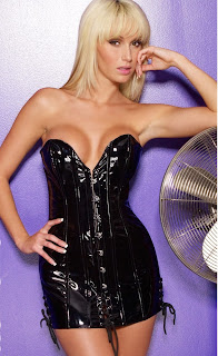 Vinyl ''Discipline'' Corset Dress