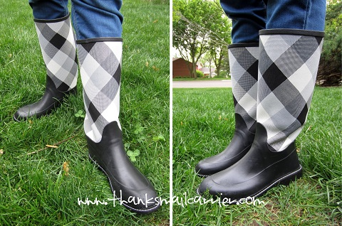 women's tweed rainboots