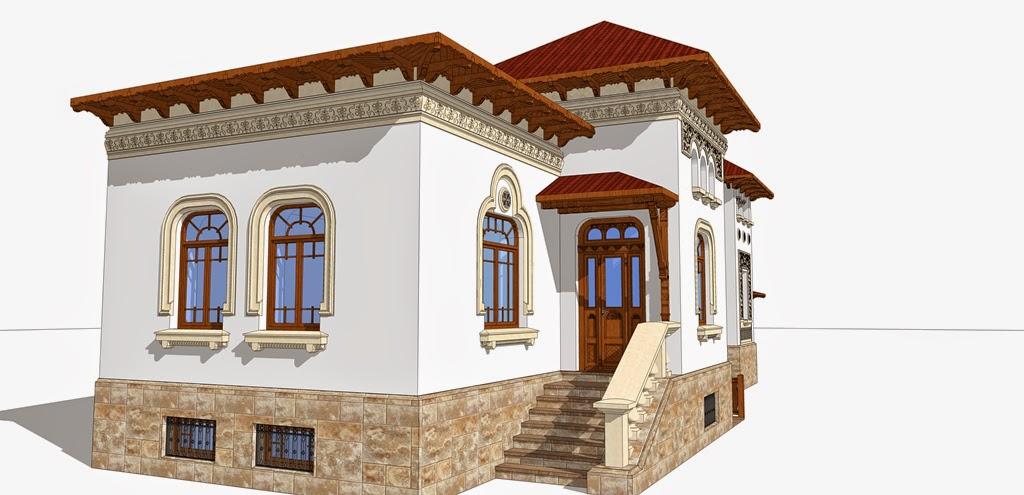 fatada casa in stil neoromanesc
