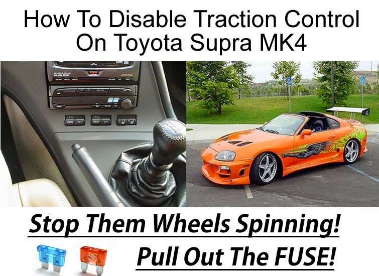How To Disable Traction Control On Toyota Supra Mk4 Twin