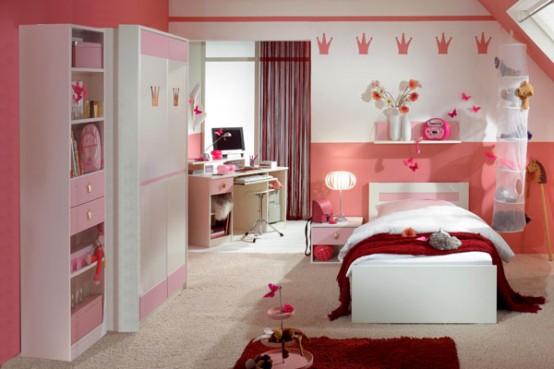 Deco chambre interieur chambres coucher roses pour les filles - Les chambre a coucher ...
