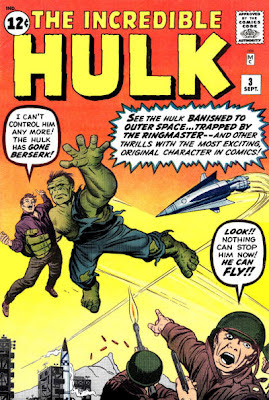 Incredible Hulk #3, the Hulk can fly