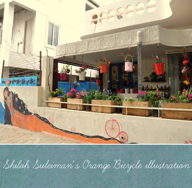 Artnlight: The Orange Bicycle, Bangalore + Artnlight