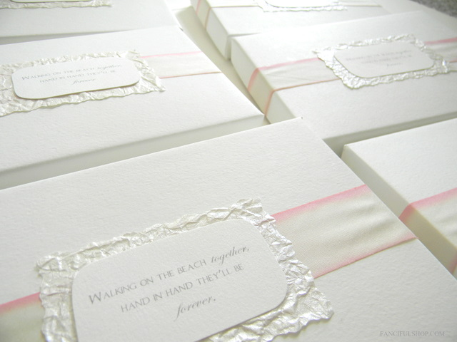 The invitations were carefully designed fitting in with our theme of