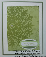 Card made by StampLadyKatie using the Stampin'UP! Medallion Background Stamp.