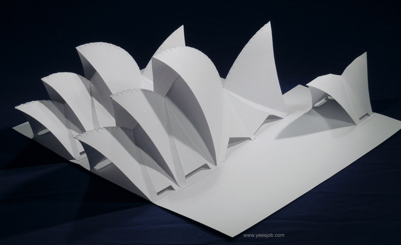 The kingdom of origami architecture the sydney opera for Architecture origami
