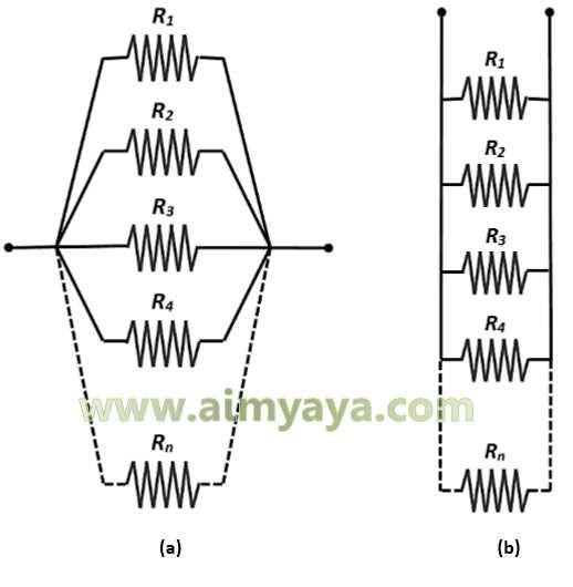Gambar: Rangkaian Paralel Resistor