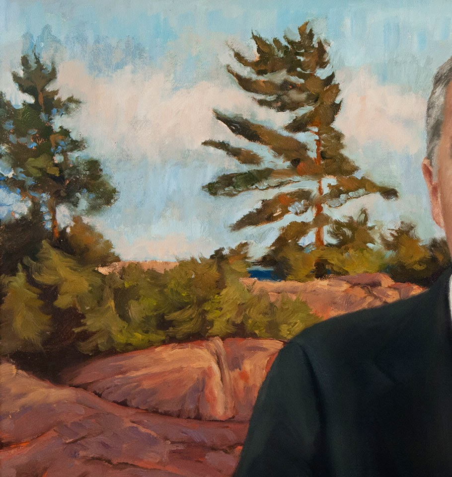 Shannon Reynolds, landscape painting, corporate portrait, oil on canvas