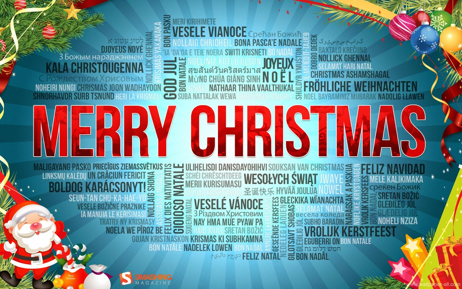 Merry Christmas 2014 Greetings Wishes In Different Languages No1