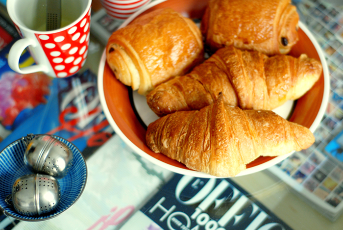 Paris croissants l'officiel morning breakfast France french parisian