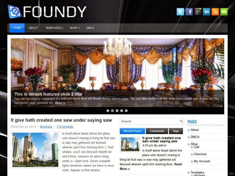 Foundy - Free Wordpress Theme