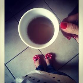 Vamos sentar e tomar um café?