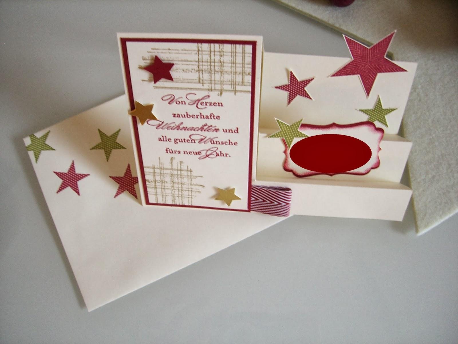 Treppenkarte mit Umschlag