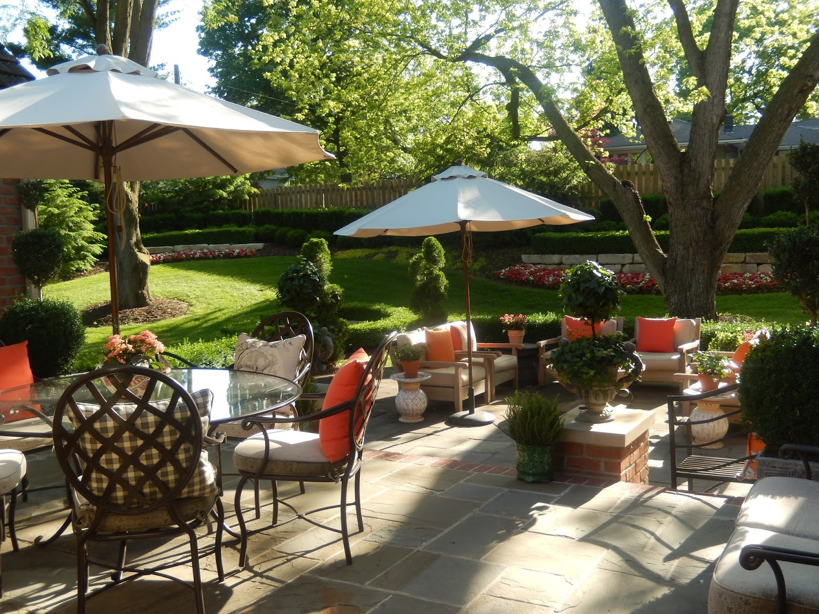 the french tangerine graduation garden and patio