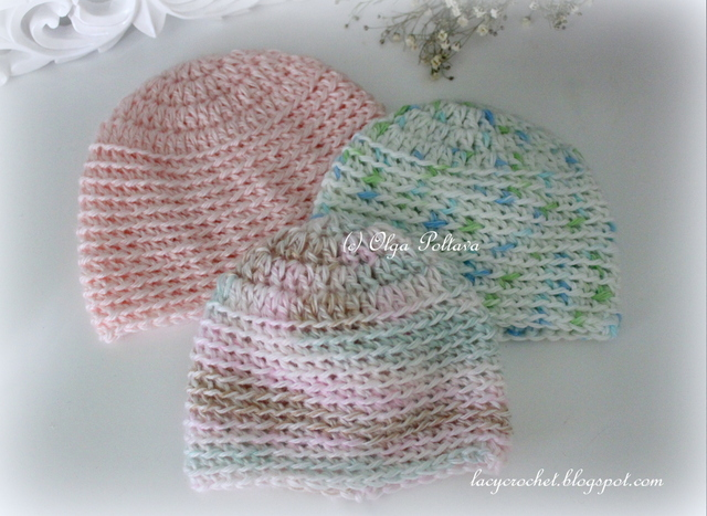 Free Crochet Patterns For Baby Pram Blankets : Lacy Crochet: Preemie and Micro Preemie Baby Caps, Free ...