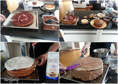 Kuchen stapeln und icen