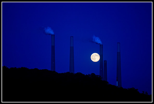 Moon; Blue Moon; Smoke Stacks