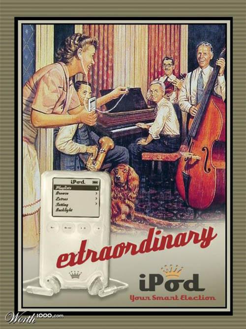 anúncios vintage - produtos modernos - iPod