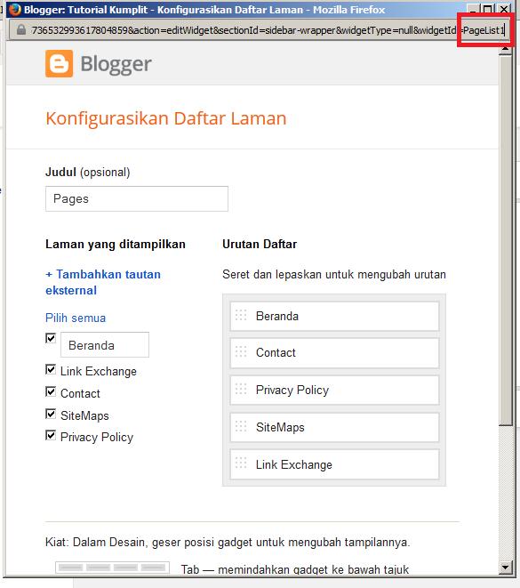 Cara Memilah Widget Yang Tampil di Halaman Blog
