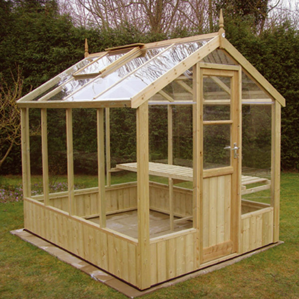 Wood greenhouse plans woodproject for Greenhouse house plans