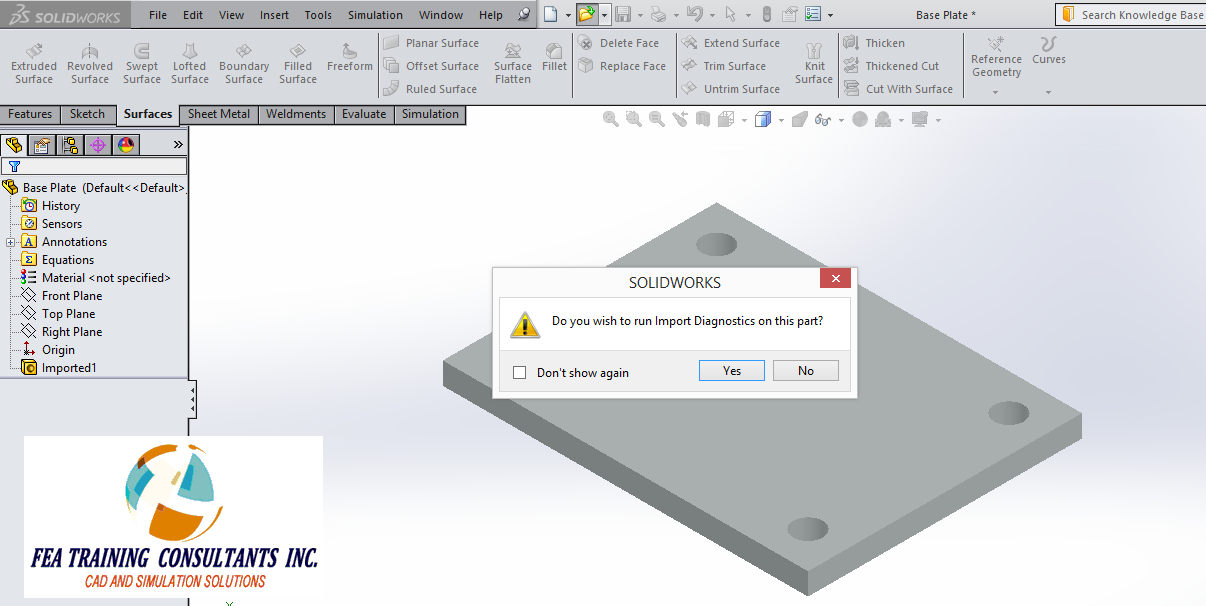 solidworks file imports