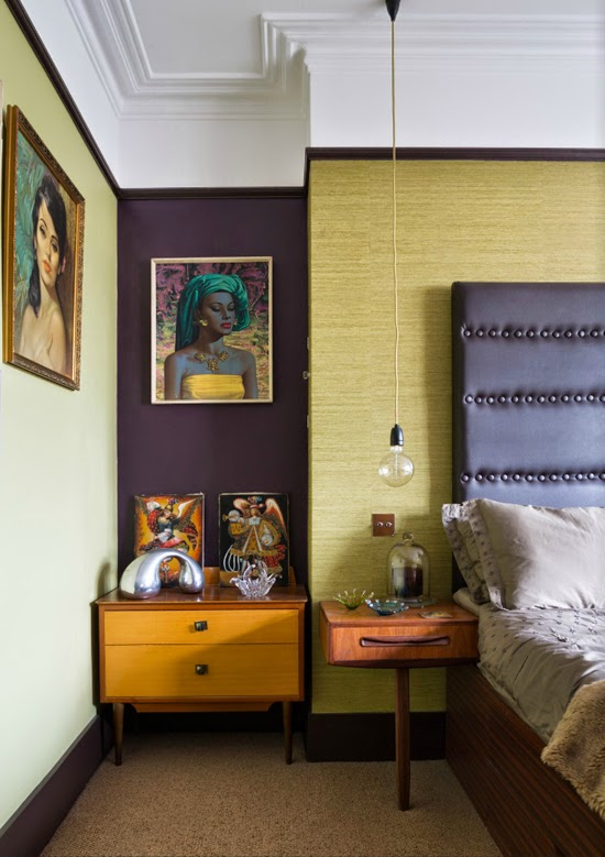 Safari Fusion blog | Tretchikoff [part 2] | Eclectic kitch style terraced Edwardian featuring Tretchikoff's Balinese Girl in the bedroom