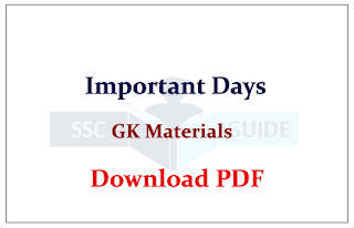 List of Important Days | GK Study