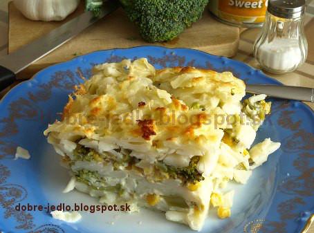 Zapekané cestoviny s brokolicou a kukuricou - recepty