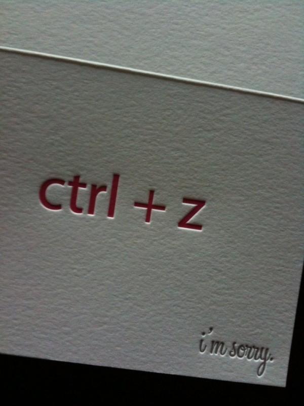 Ctrl Z Or Undo My Deeds Sorry Dearest Friend