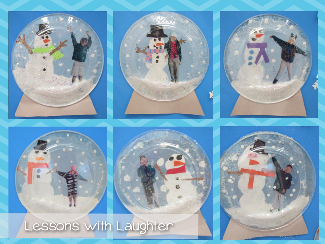 Lessons with laughter snow globes for Snow globe craft for kids